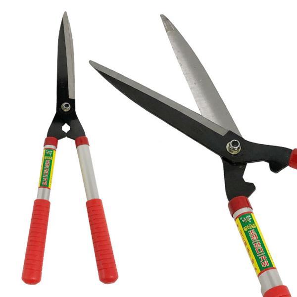 화신 양손조경가위(K560) 잔디가위 정원 나무 풀 원예