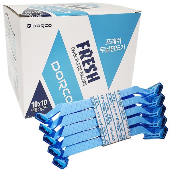도루코 프레쉬 두날면도기 x1박스(100개)일회용면도기