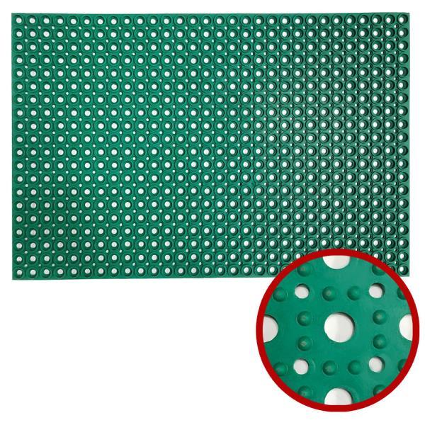 현관 생고무 동전매트(그린60x90) 출입구매트 발매트