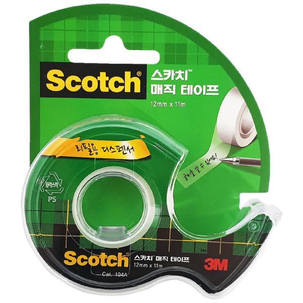 3M 스카치 매직테이프 104A(12mmX11M) 투명 접착 메모