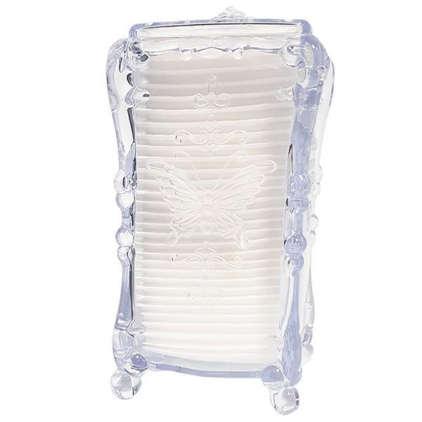 라비나 럭셔리 화장솜 케이스(투명) 화장솜포함 보관