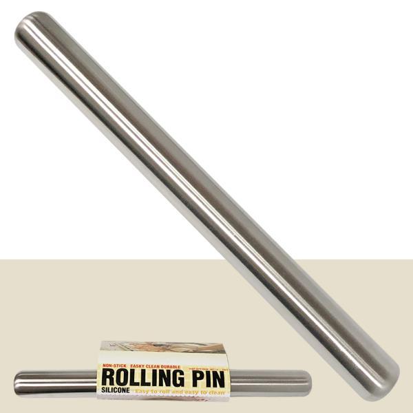 미지 스텐밀대(16in) 40cm 반죽밀대 만두밀대 롤링핀