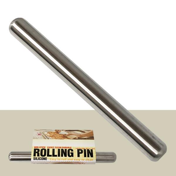 미지 스텐밀대(12in) 30cm 반죽밀대 만두밀대 롤링핀