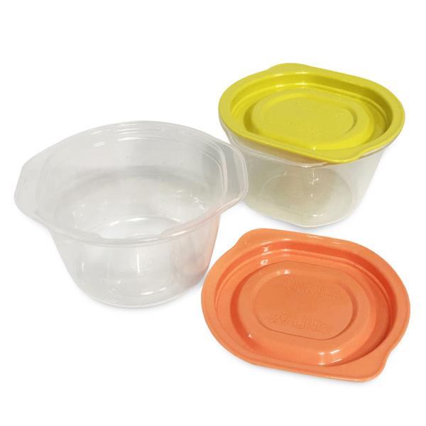씨밀렉스 (쿡밥4p) 275ml 전자레인지용기 냉동밥용기