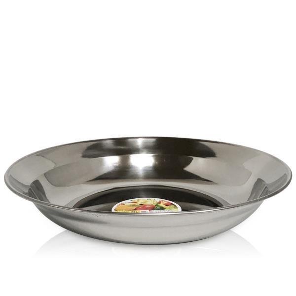 한국금속 샐러드 접시1p (대23cm) 스텐접시 과일접시