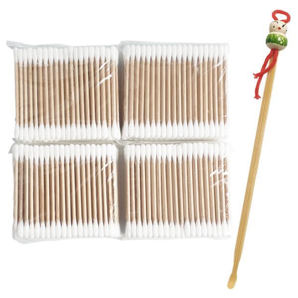 f미지 귀이개 면봉(400p 대나무 귀이개포함) 나무면봉