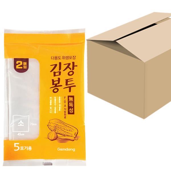 감동 김장봉투(소2매) x1박스(50개) 5포기 위생포장