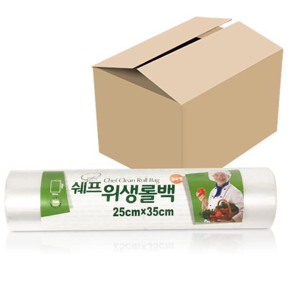 쉐프 위생롤백 (실속형100매) x1박스(30개) 25x35cm