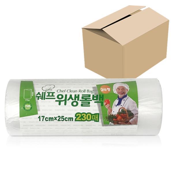 쉐프 위생롤백 (실속형230매) x1박스(30개) 17x25cm