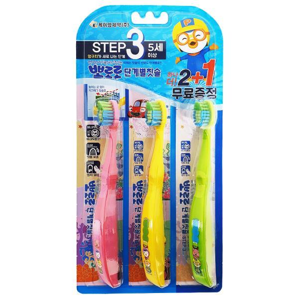 KM 뽀로로 (단계별 칫솔 STEP3) 2+1p 어린이 5세이상