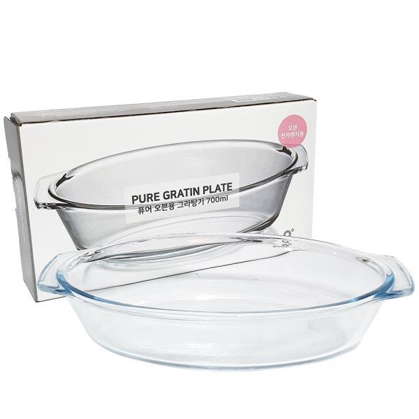 아트 퓨어 오븐용(그라탕기 700ml) 내열그릇 유리용기