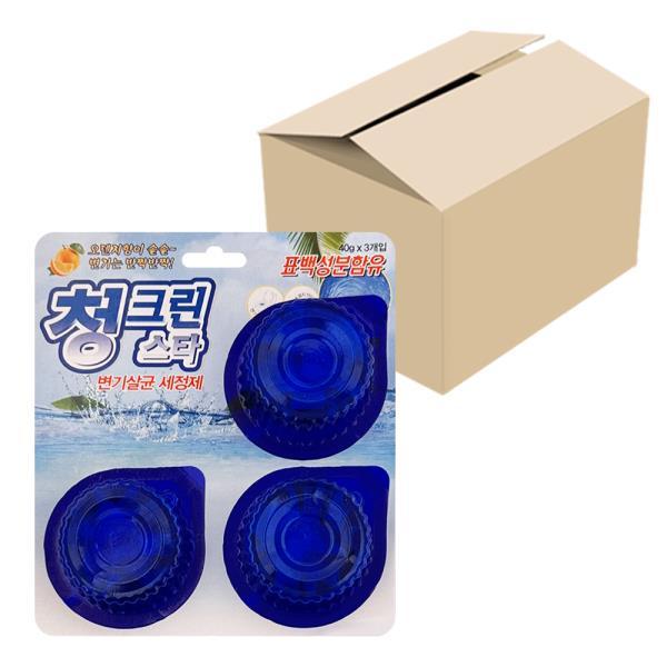 태광 청그린스타(3P) x1박스(30개) 변기세정제 파란물