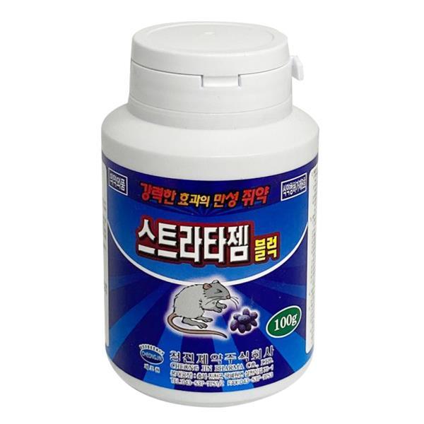 f청진 스트라타젬 블럭(100g)덩어리쥐약 살서제쥐잡기