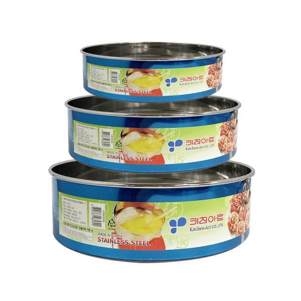키친아트 스텐 채망(선택) 원형채반 밀가루채 거름채
