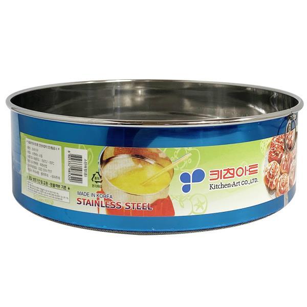 키친아트 스텐 채망(중 23.5) 원형 밀가루채 거름채