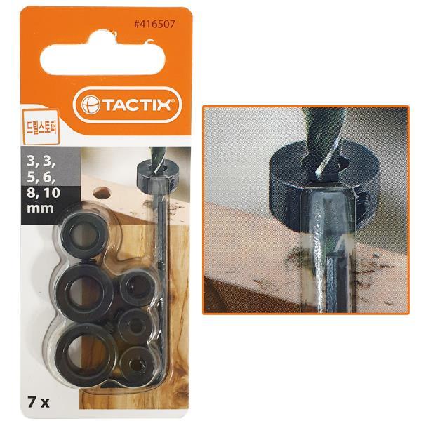 TACTIX 드릴스토퍼7P (416507) L렌치포함 깊이조절