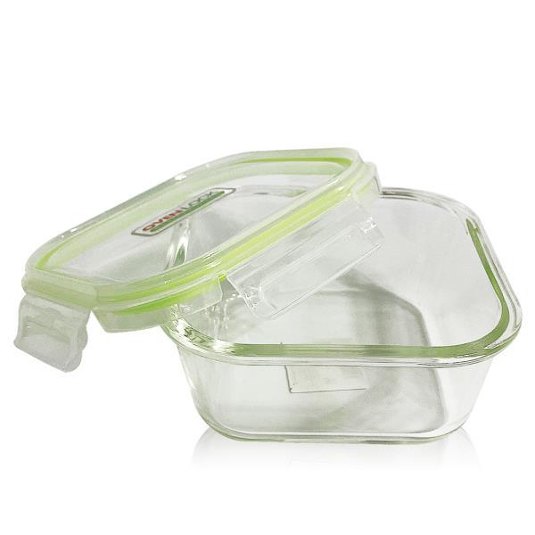 유리그릇 오븐락 찬통 정사각 3호 800ml 유리반찬통 밀폐용기