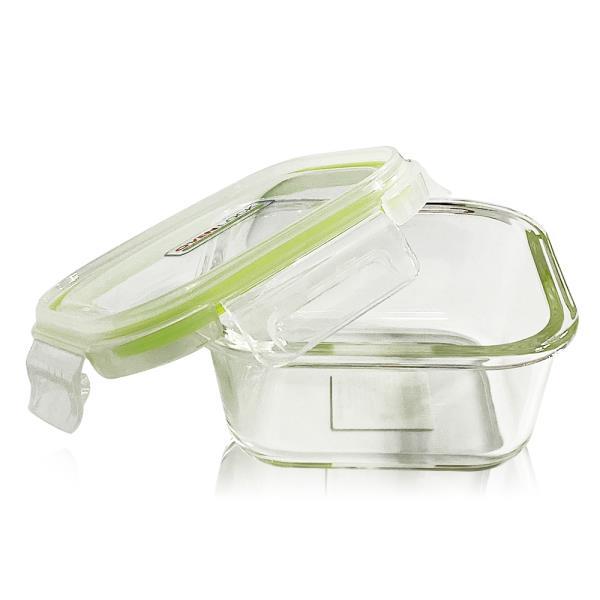 유리그릇 오븐락 찬통 정사각 2호 520ml 유리반찬통 밀폐용기