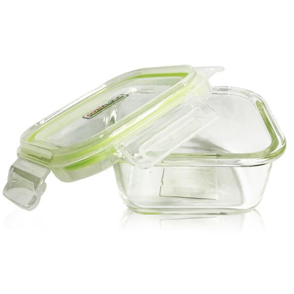 유리그릇 오븐락 찬통 정사각 1호 320ml 유리반찬통 밀폐용기