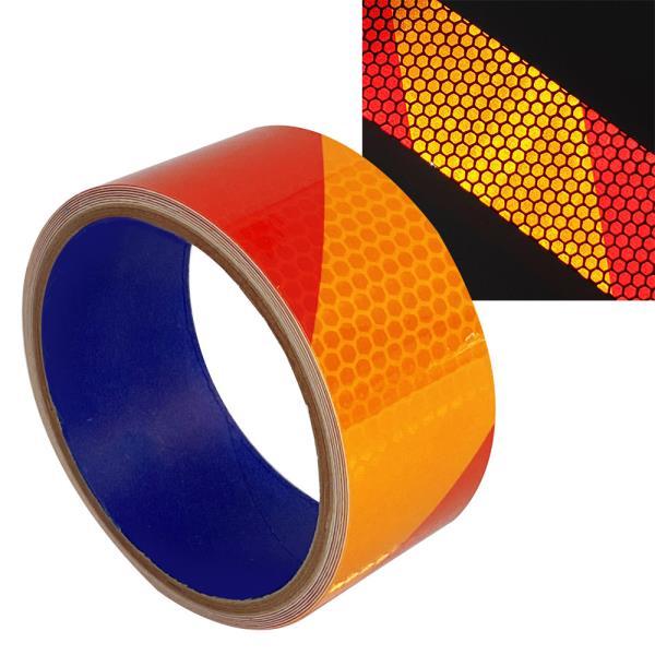 사선 반사테이프(빨/주)40 빛반사 반사지 교통안전