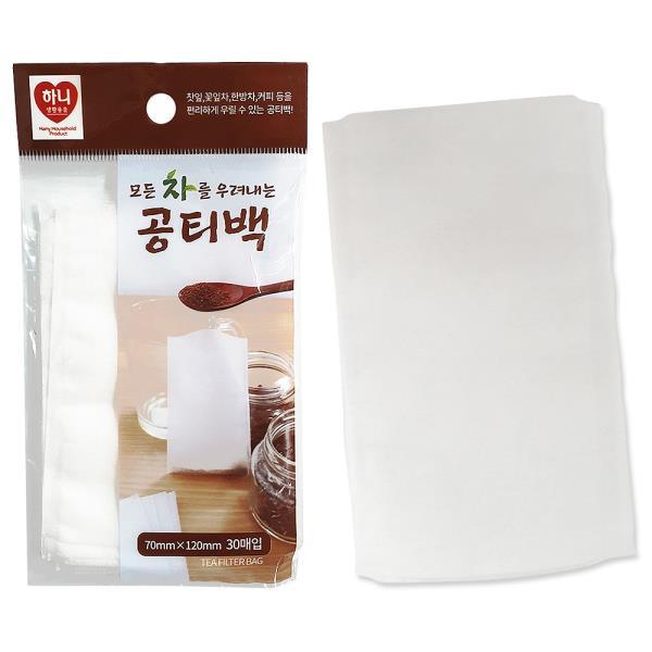 공티백 f하니 공티백 30매 7x12 차우림백 일회용티백 커피백