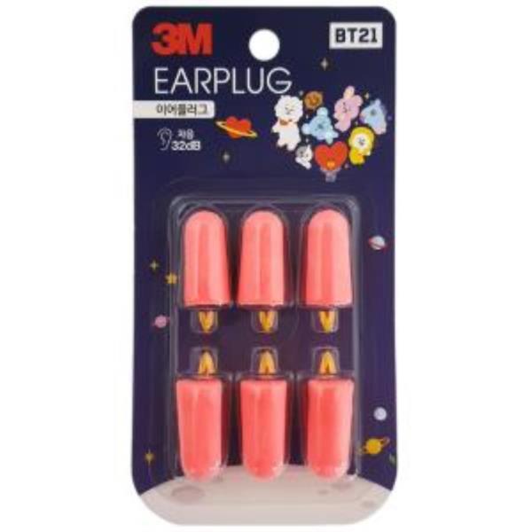 3M BT21 이어플러그(리필 3쌍) 소음방지 귀마개 수면