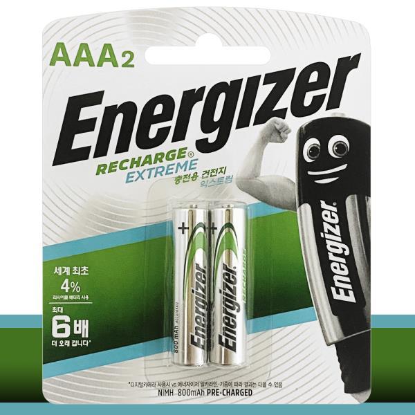 에너자이저 충전용 건전지(AAA AA선택 2P HR03)배터리
