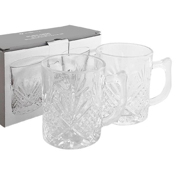 아트 퓨어 세미 머그세트(2P 250ml) 크리스탈 유리컵