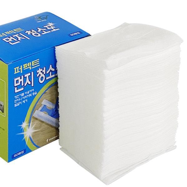비젼 퍼펙트 먼지청소포 60매 리필 정전기 부직포청소☆