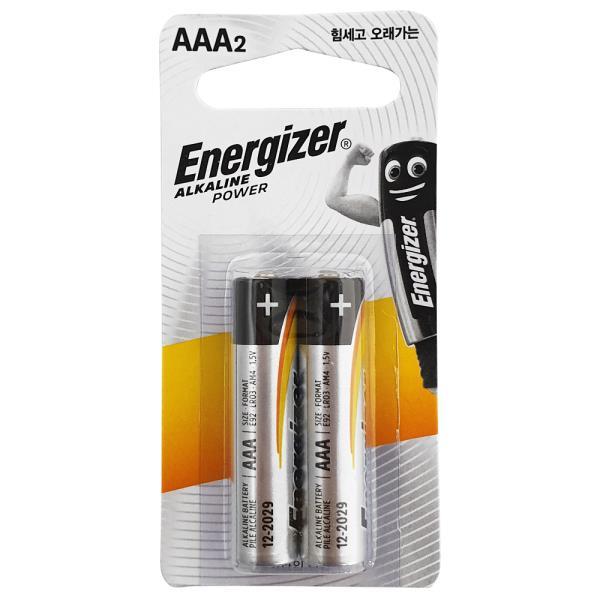 알카라인건전지 에너자이저 알카라인 AAA 건전지 2p 무수은 1.5V