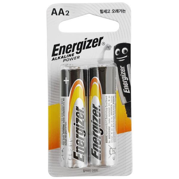 알카라인건전지 에너자이저 알카라인 AA 건전지 2p 무수은 1.5V