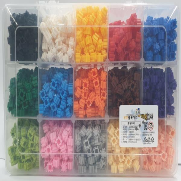 끼움블록 디폼블럭 15가지색상 세트 약 2200개 블록