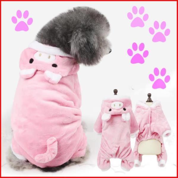 돼지 애견의류 올인원 강아지겨울옷