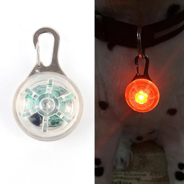 애견용 LED 목방울 1P