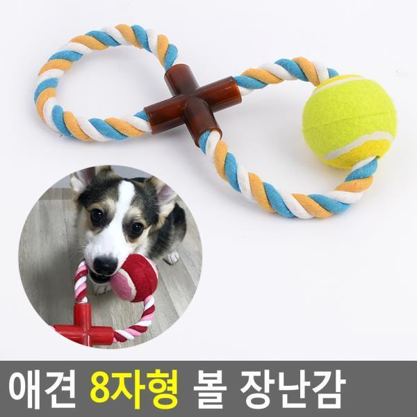 애견 8자형 볼 장난감