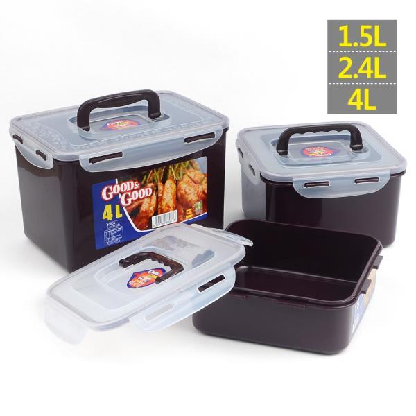 굿앤굿 핸디락 김치통 1.5/2.4/4L