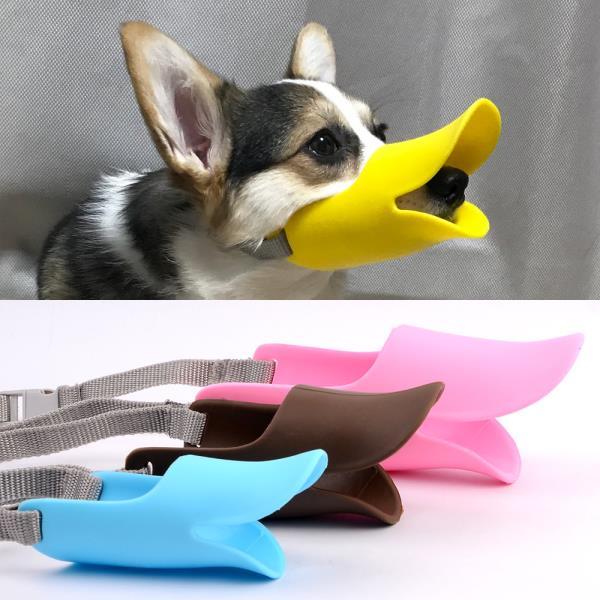 애견용 실리콘 오리입마개 마스크