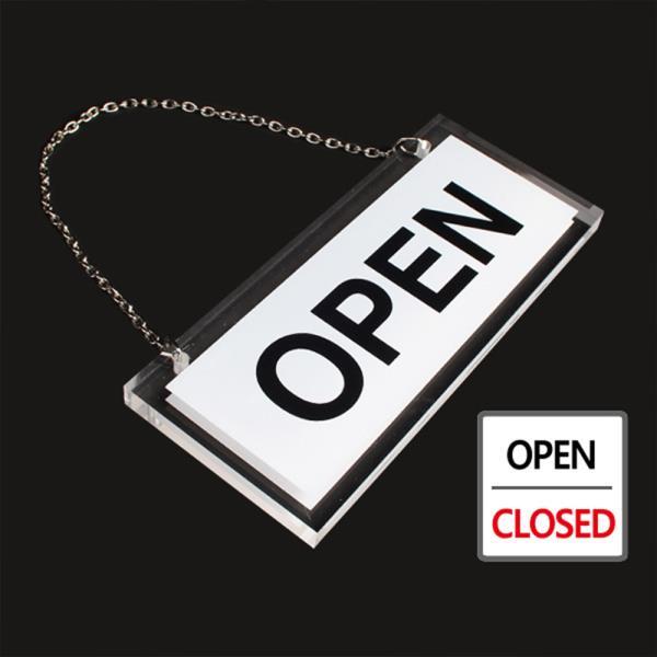 OPEN/CLOSED 오픈클로즈 투명 양면걸이