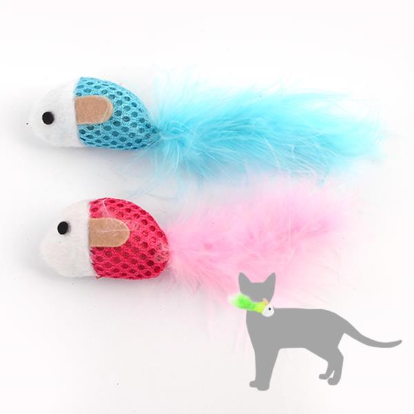 2P 컬러 마우스 고양이 장난감