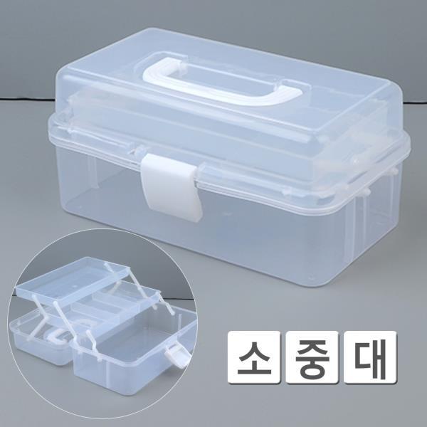 휴대용 3단 다용도 투명 멀티 공구함